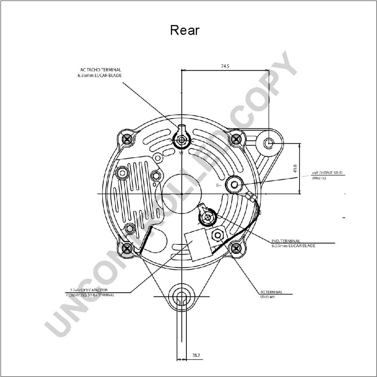 perkins 4 107 90a high output alternator Niehoff Alternator Diagram perkins 4 107 alternator high output isolated earth 90a