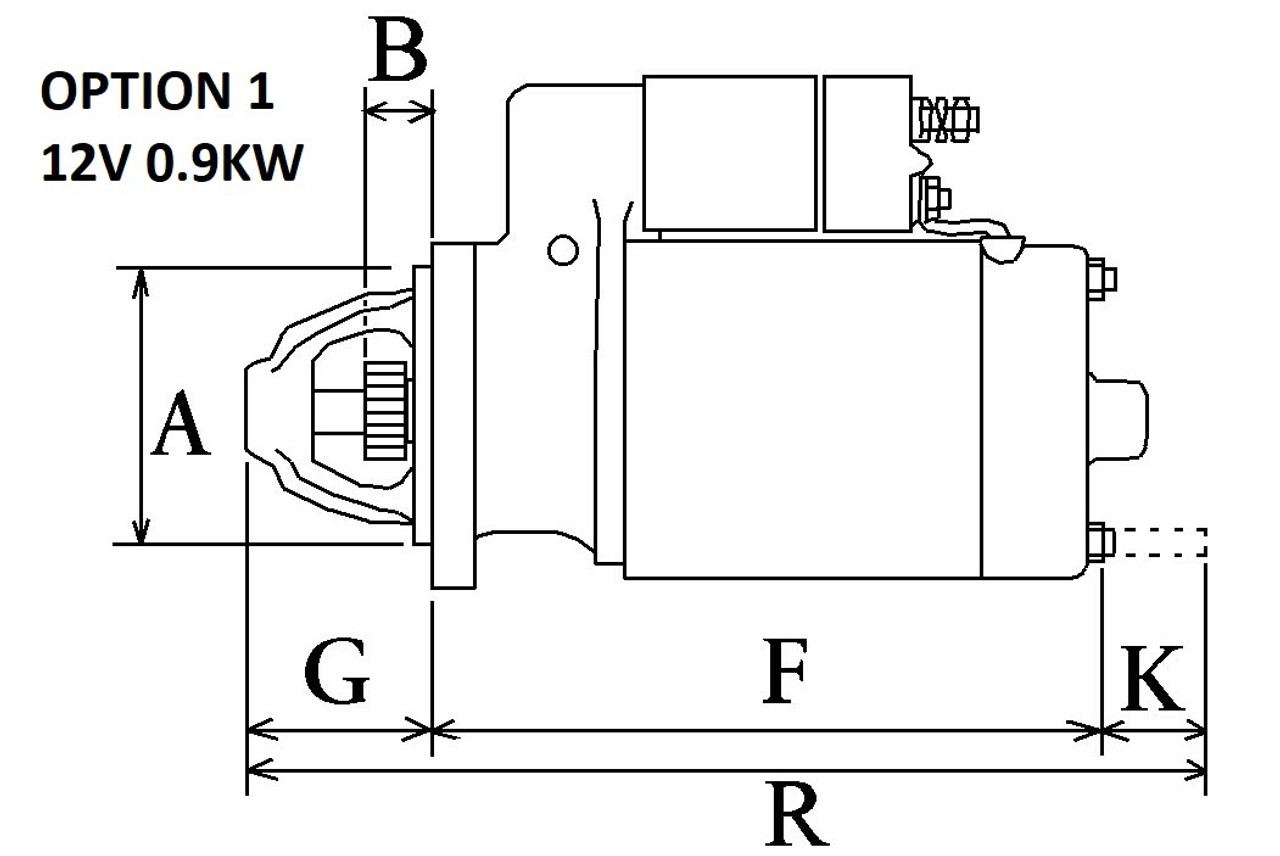 Perkins 100 series Starter Motor 0.9KW from Parts4Engines
