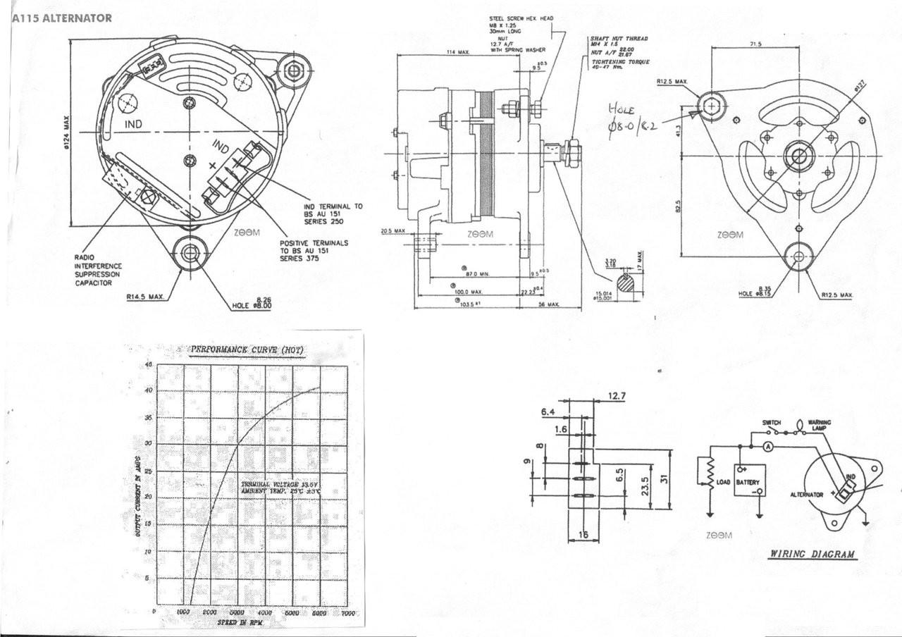 Perkins 3.152 Alternator scheme from parts4engines.com