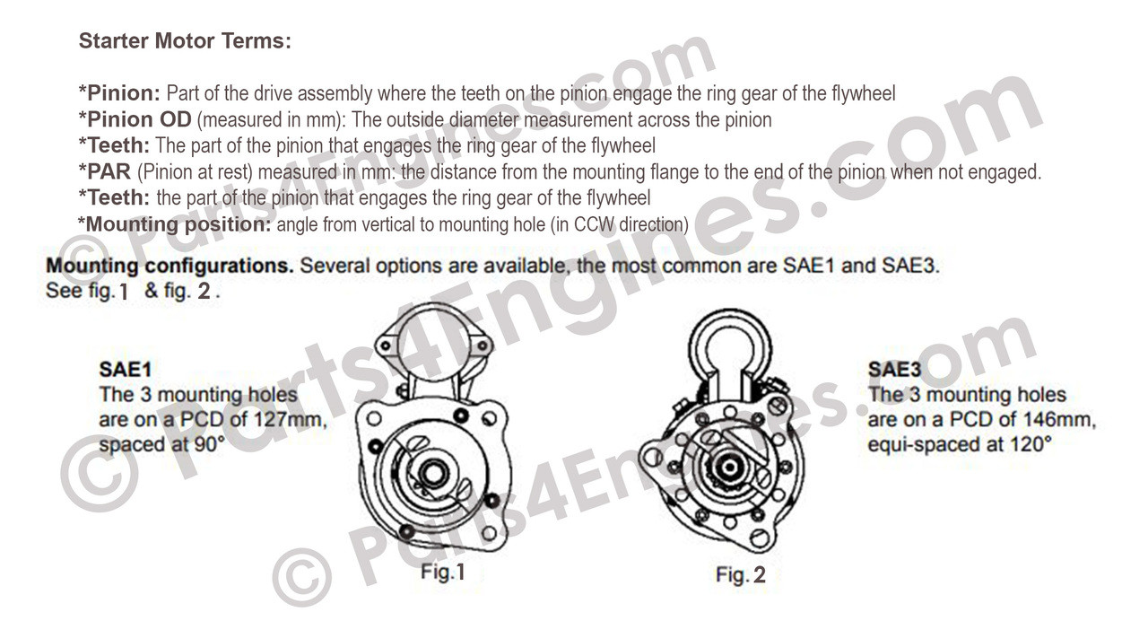 glossary starter motor terms parts4engines.com