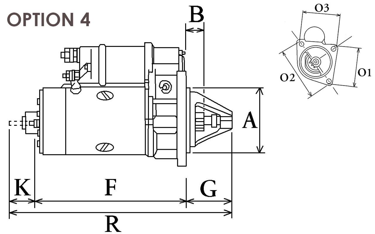 Perkins 4.236 Starter Motor 12V