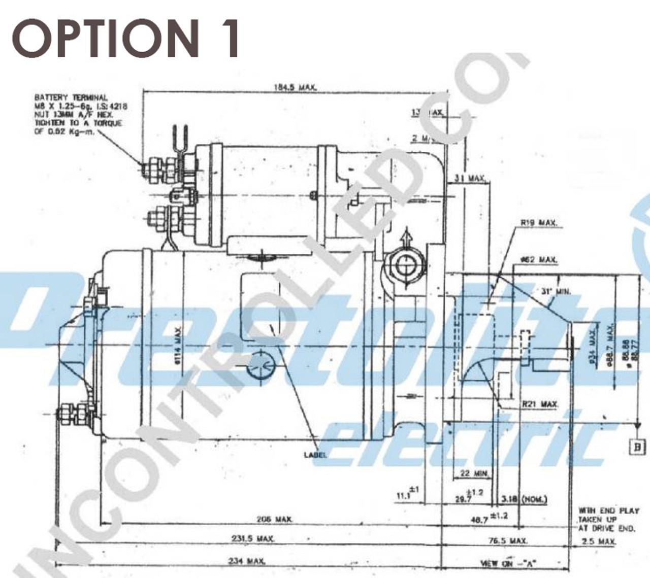Perkins 4.236 series Starters Motor 12V 1.8kW