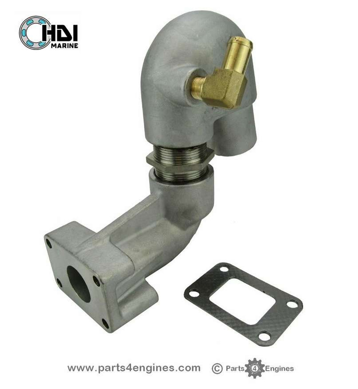 Yanmar  3GM30 Stainless Steel Exhaust outlet - parts4engines.com