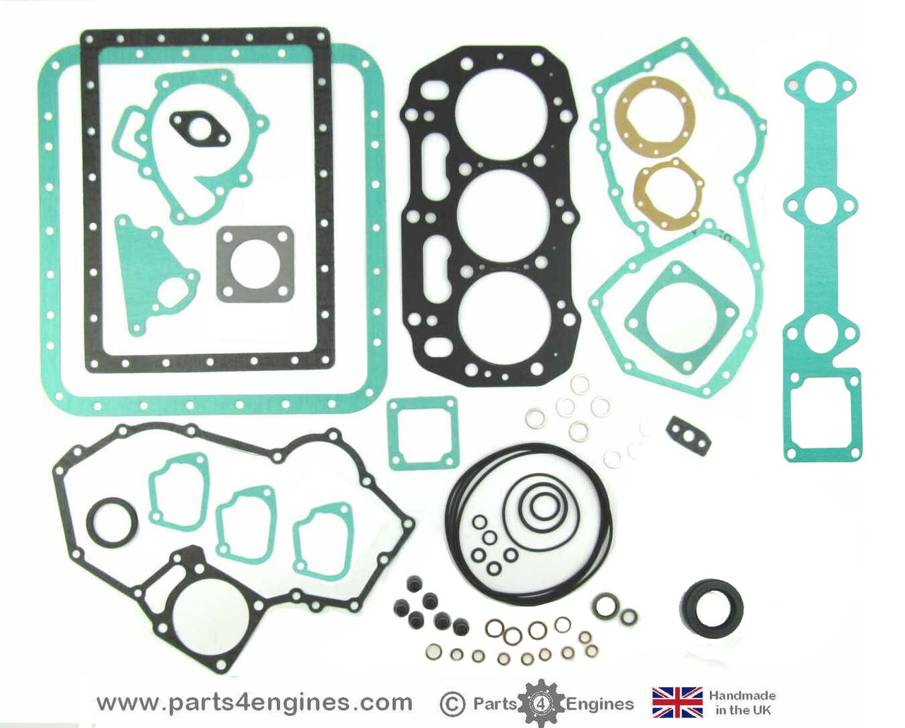 Perkins Perama M35 Complete gasket and seal set - parts4engines.com  (no rear oil seal)
