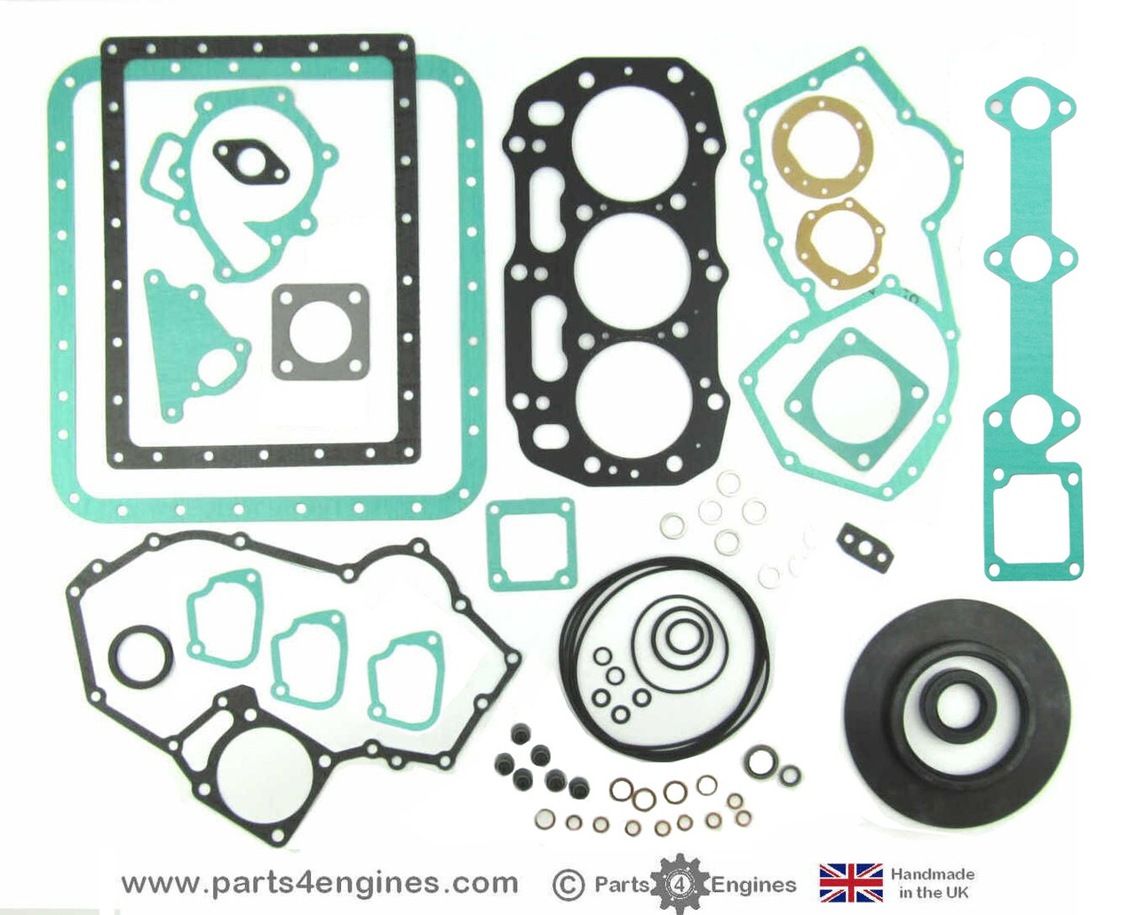 Perkins Perama M35 Complete gasket and seal set - parts4engines.com  (with rear oil seal)