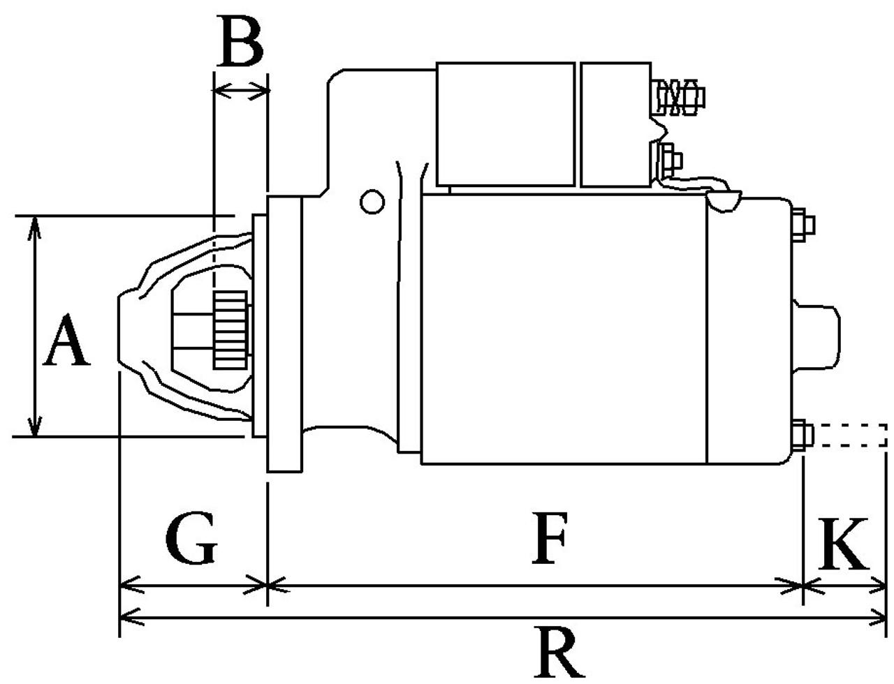 Yanmar 2GM Starter motor on