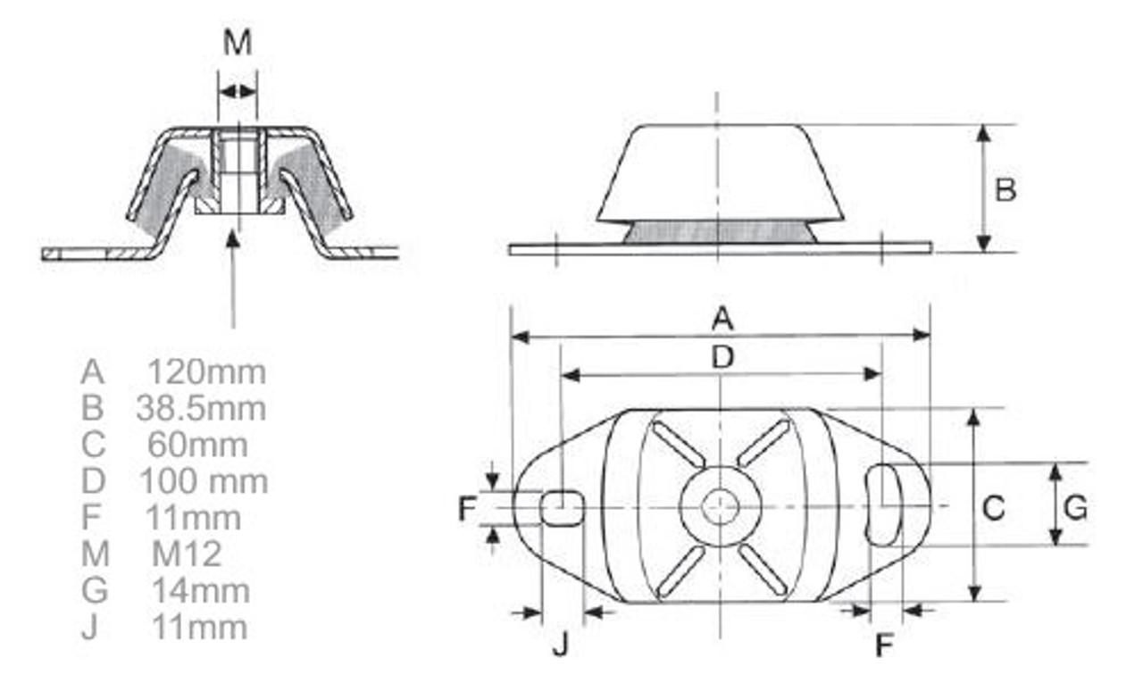 Perkins Prima M60 engine mount - parts4engines.com