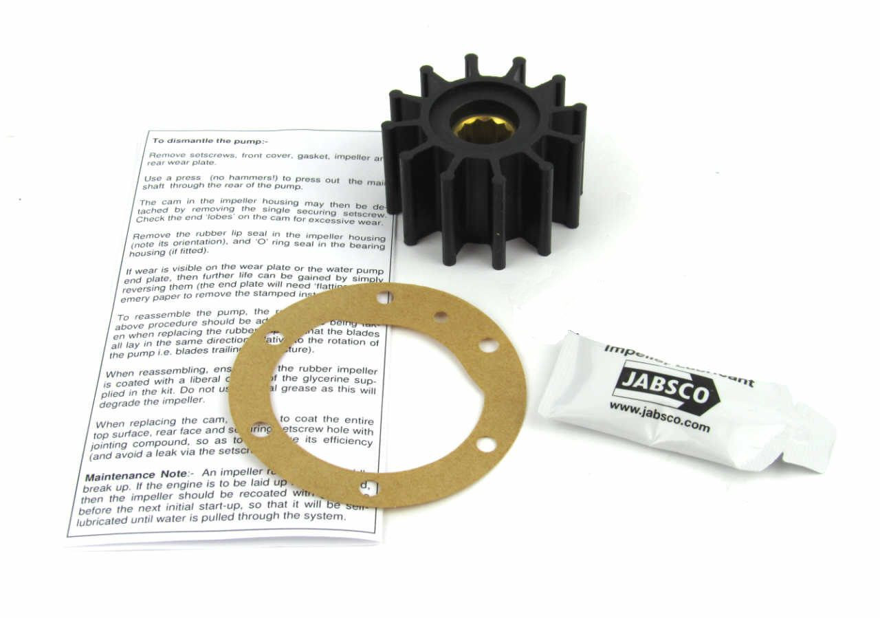 Volvo Penta TMD22 Cam and Belt driven raw water pump impeller kit - parts4engines.com