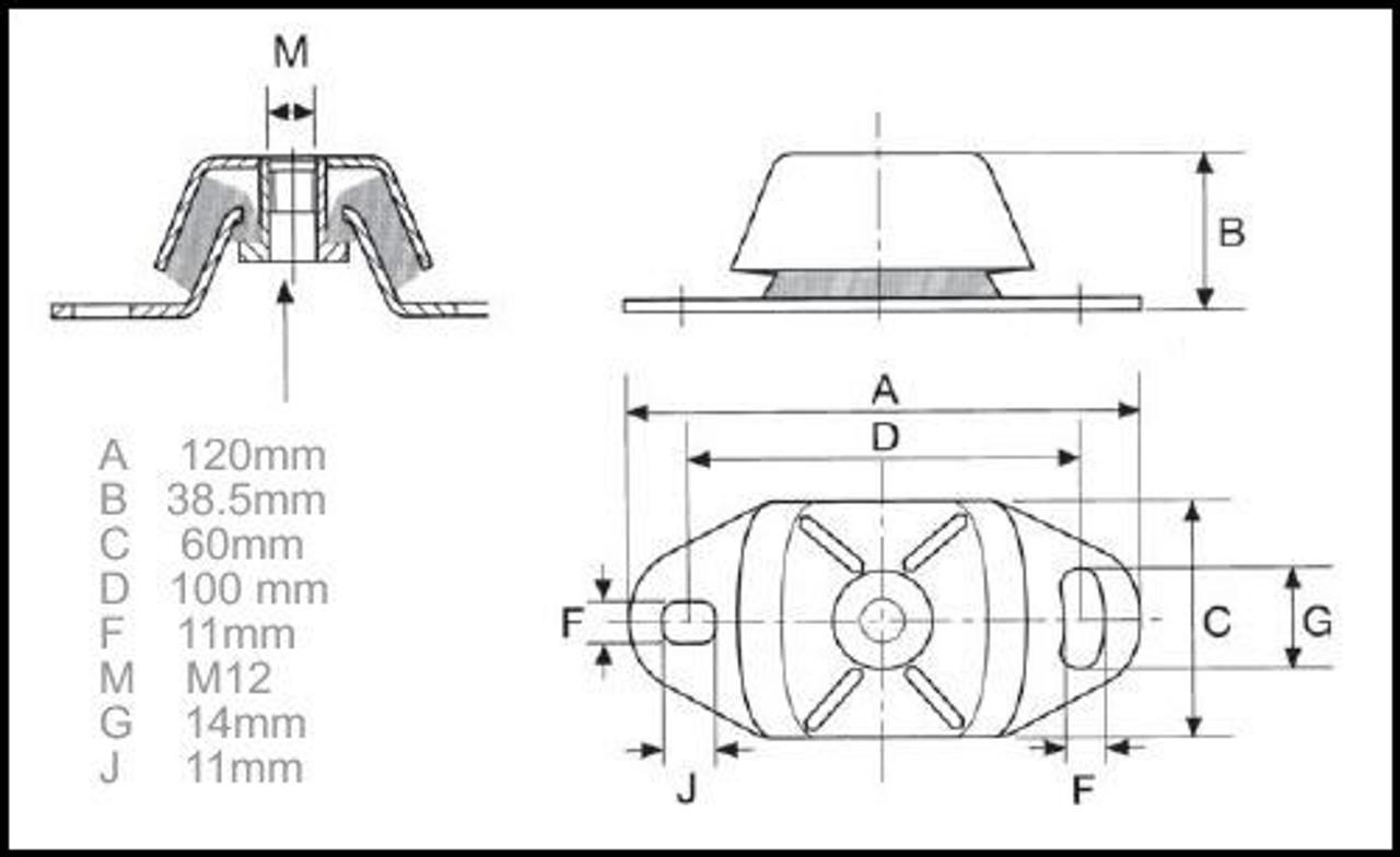 Perkins Perama M30 marine engine mounting data - parts4engines.com