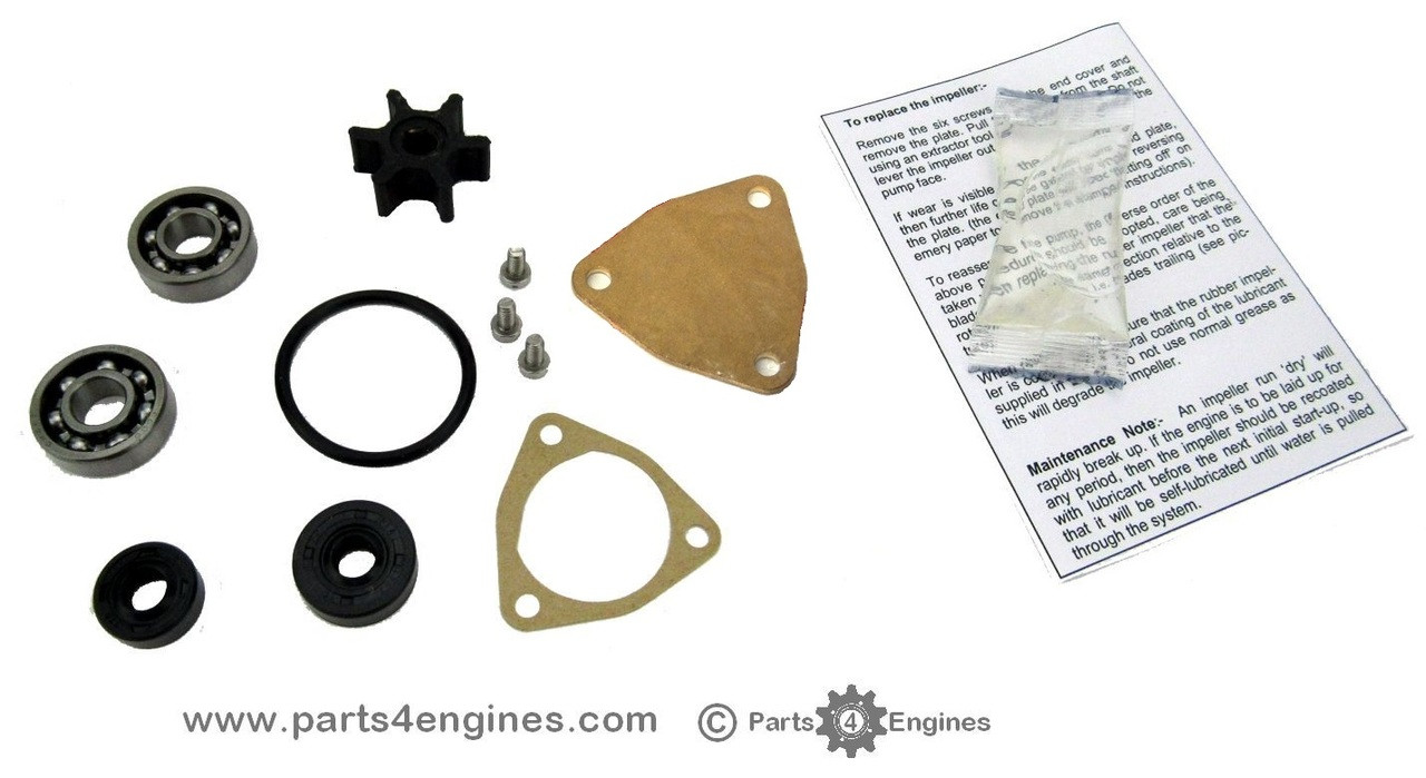 Yanmar 1GM Raw water pump rebuild kit
