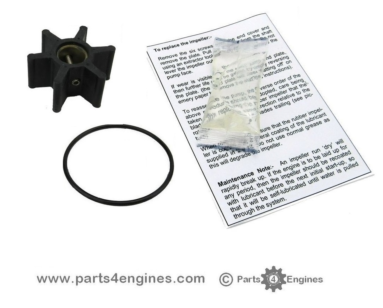 Yanmar 2YM15 Raw water pump impeller kit - parts4engines.com