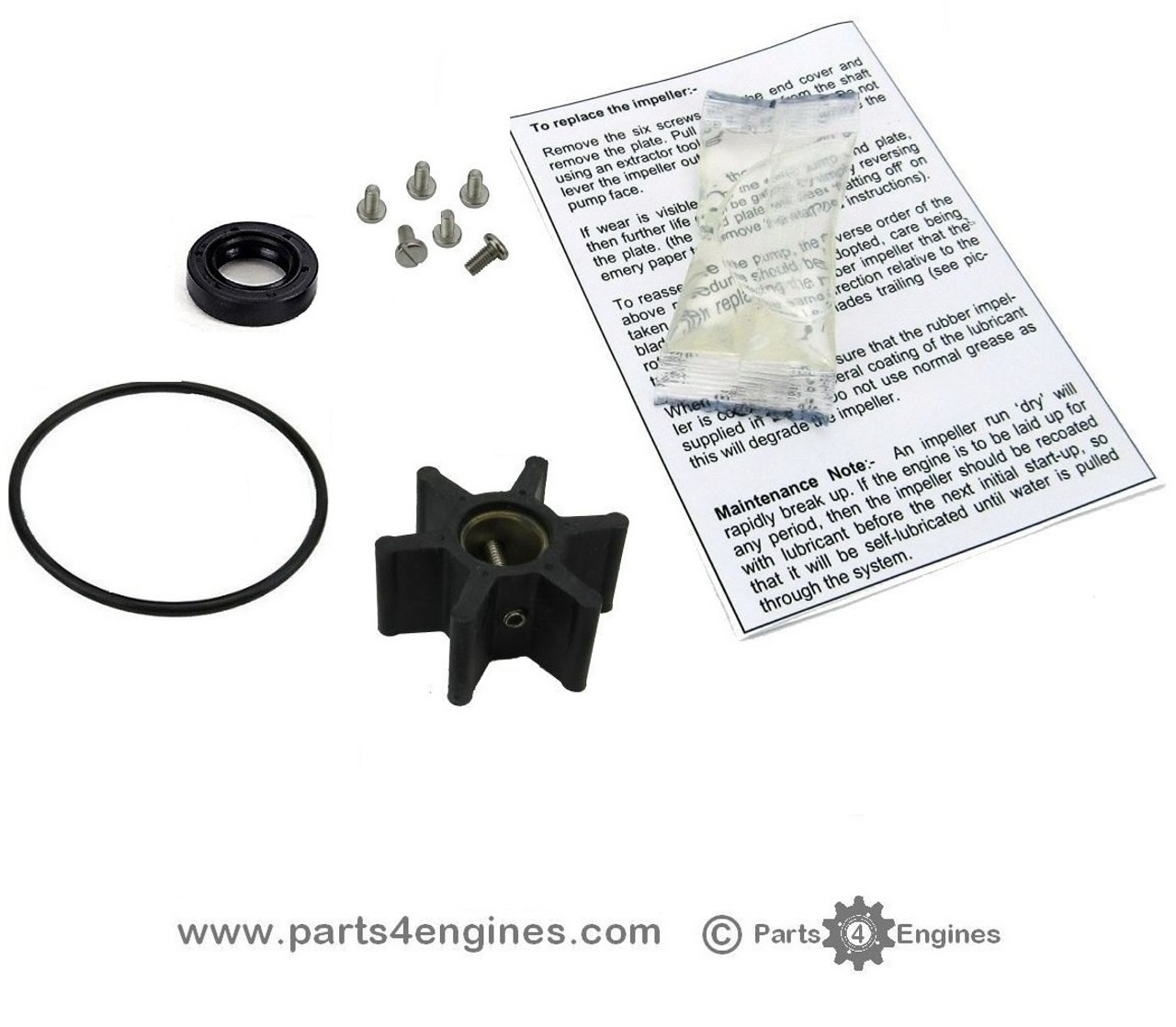 Yanmar 3YM20 Raw water pump service kit - parts4engines.com