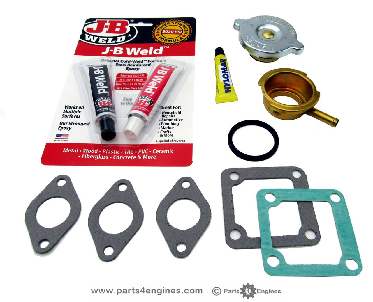 Volvo Penta MD2040 heat exchanger  filler neck replacement kit , from parts4engines.com