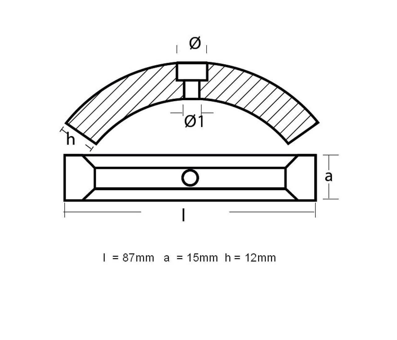 Volvo Penta split collar anode, from parts4engines.com