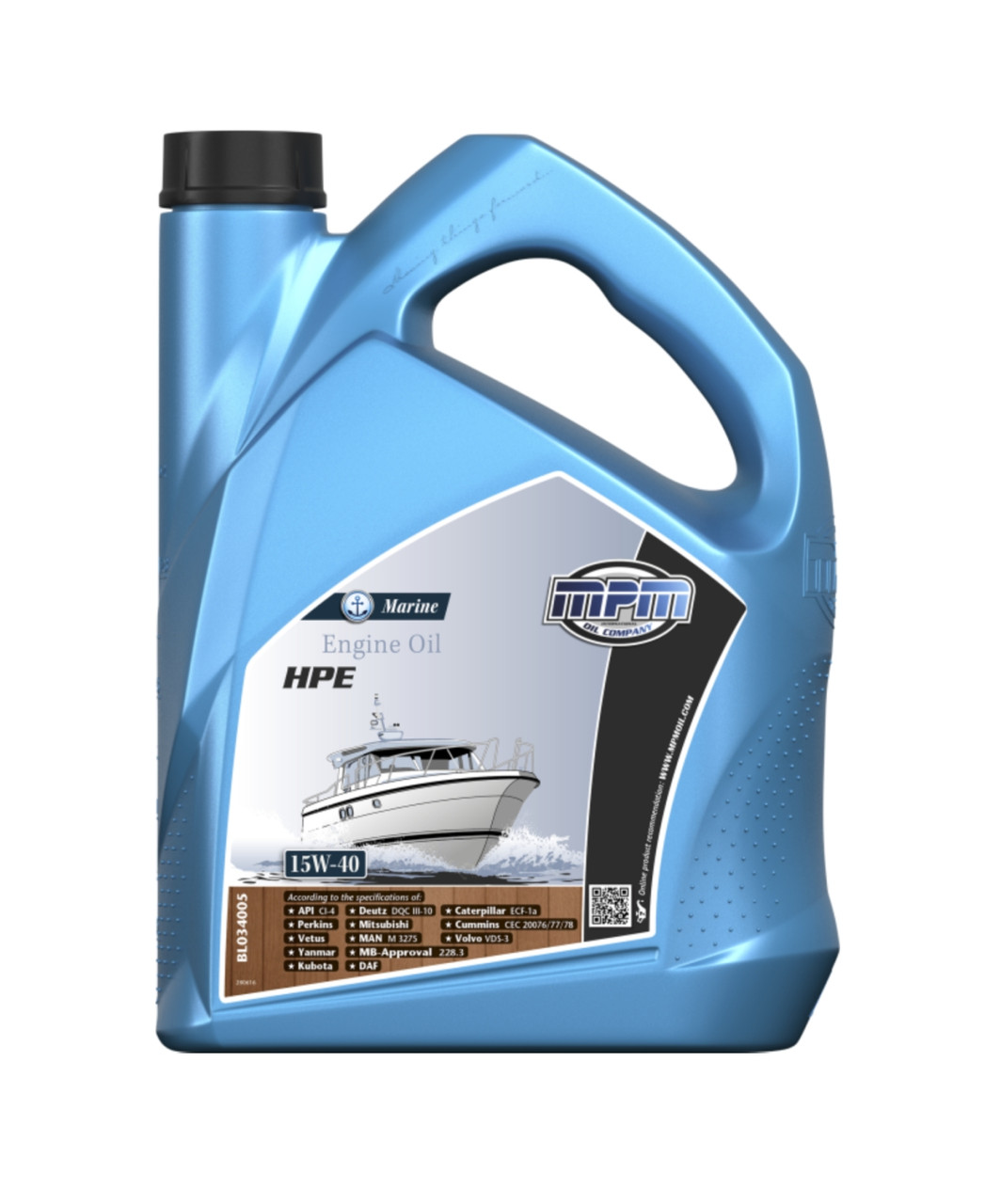 15W-40 Marine engine oil 5 litre, from parts4engines