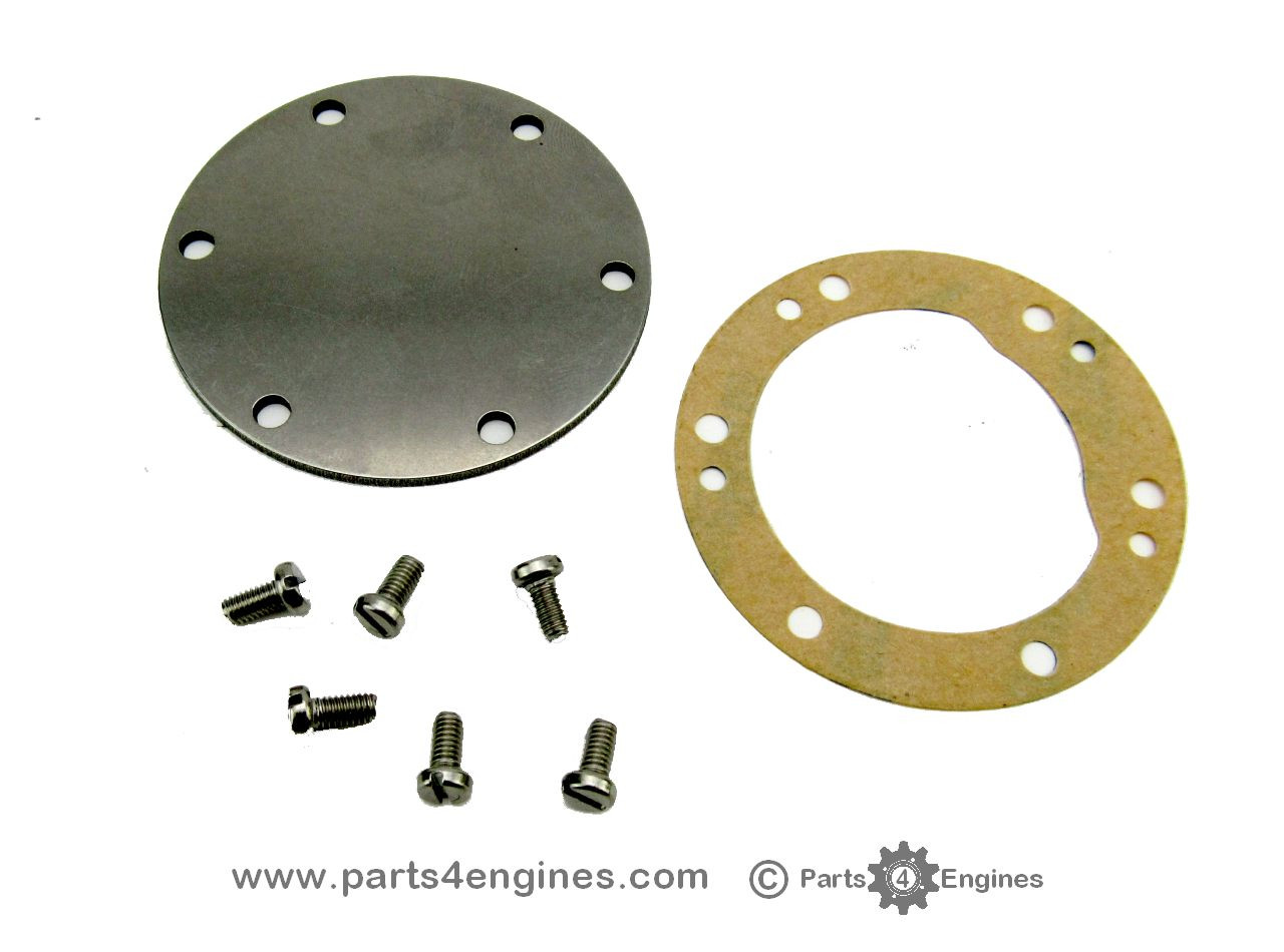 Yanmar 3GMF Raw water pump end cover kit, from parts4engies.com
