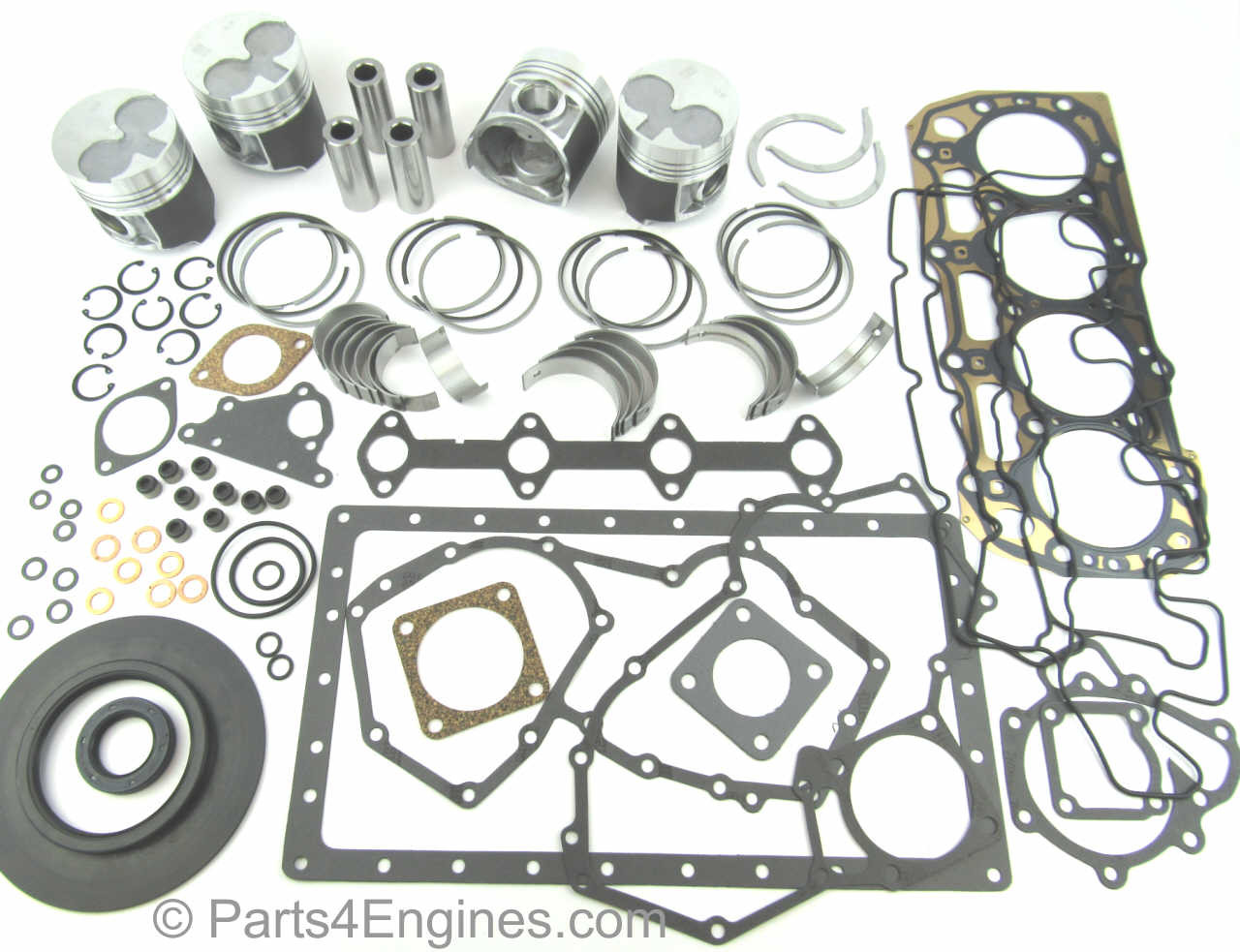 Perkins 404C-22 & 404C-22T Engine overhaul kit from parts4engines.com