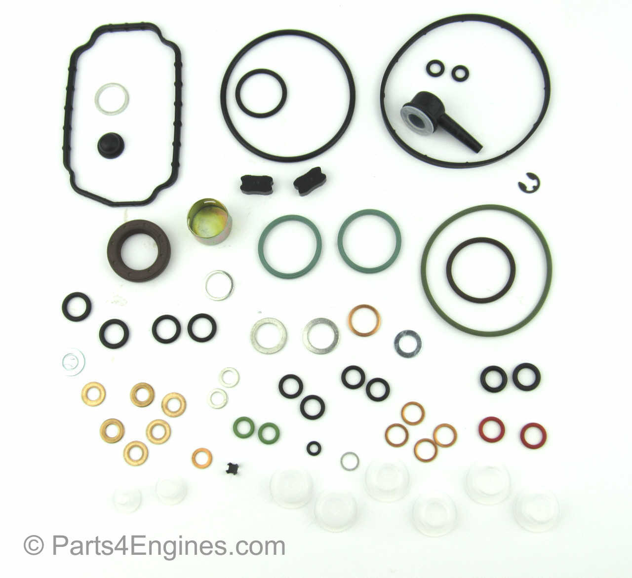 Perkins Prima M50 fuel injection pump seal and gasket replacement kit - parts4engines.com