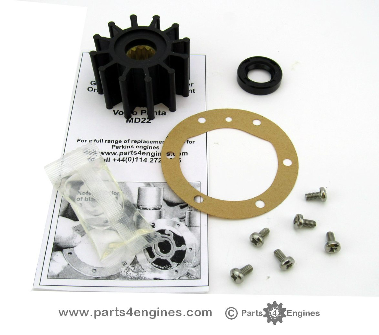 Volvo Penta MD22 Belt driven raw water pump service kit - parts4engines.com