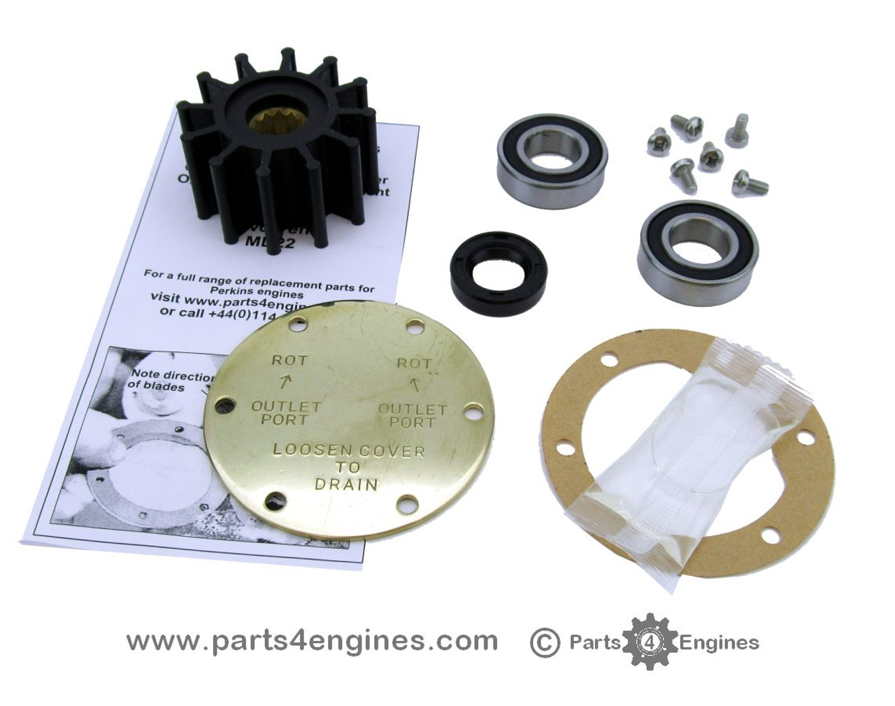 Volvo Penta Raw Sea Water Pump Repair rebuild Service Kit With Stop Lug 3857954