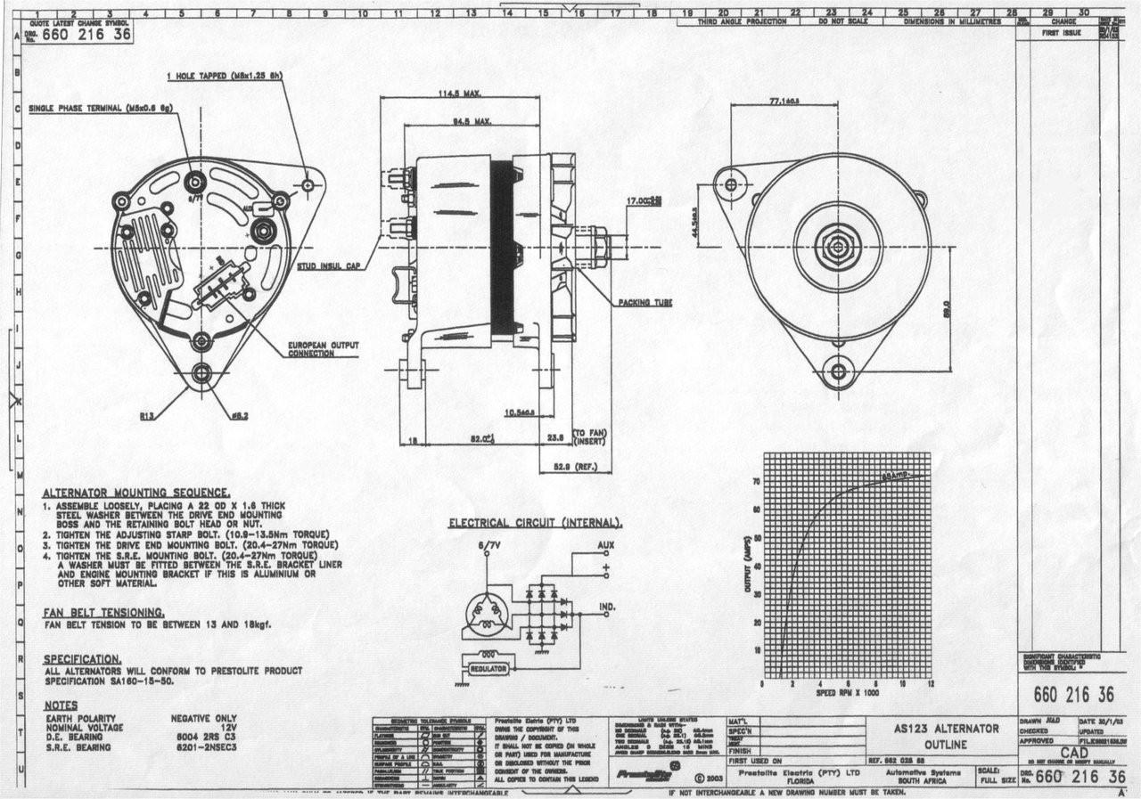 70 amp alternator - Perkins Prima M50 Alternator from parts4engines.com