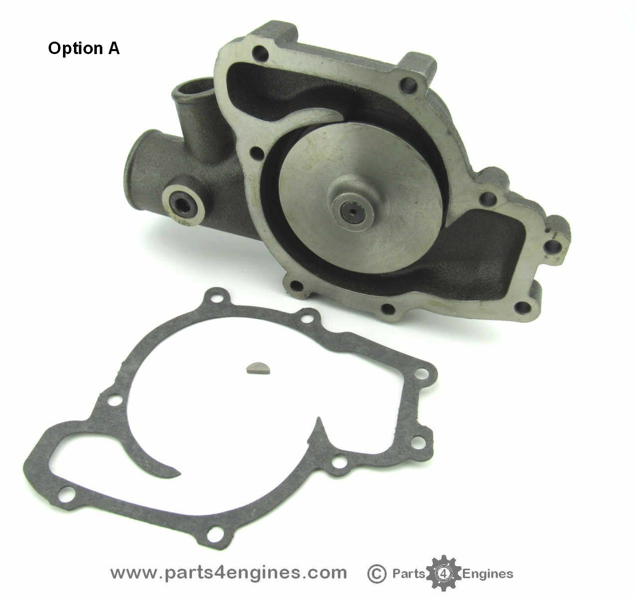 Perkins 6.354 water pump (option A  rear view) - parts4engines.com