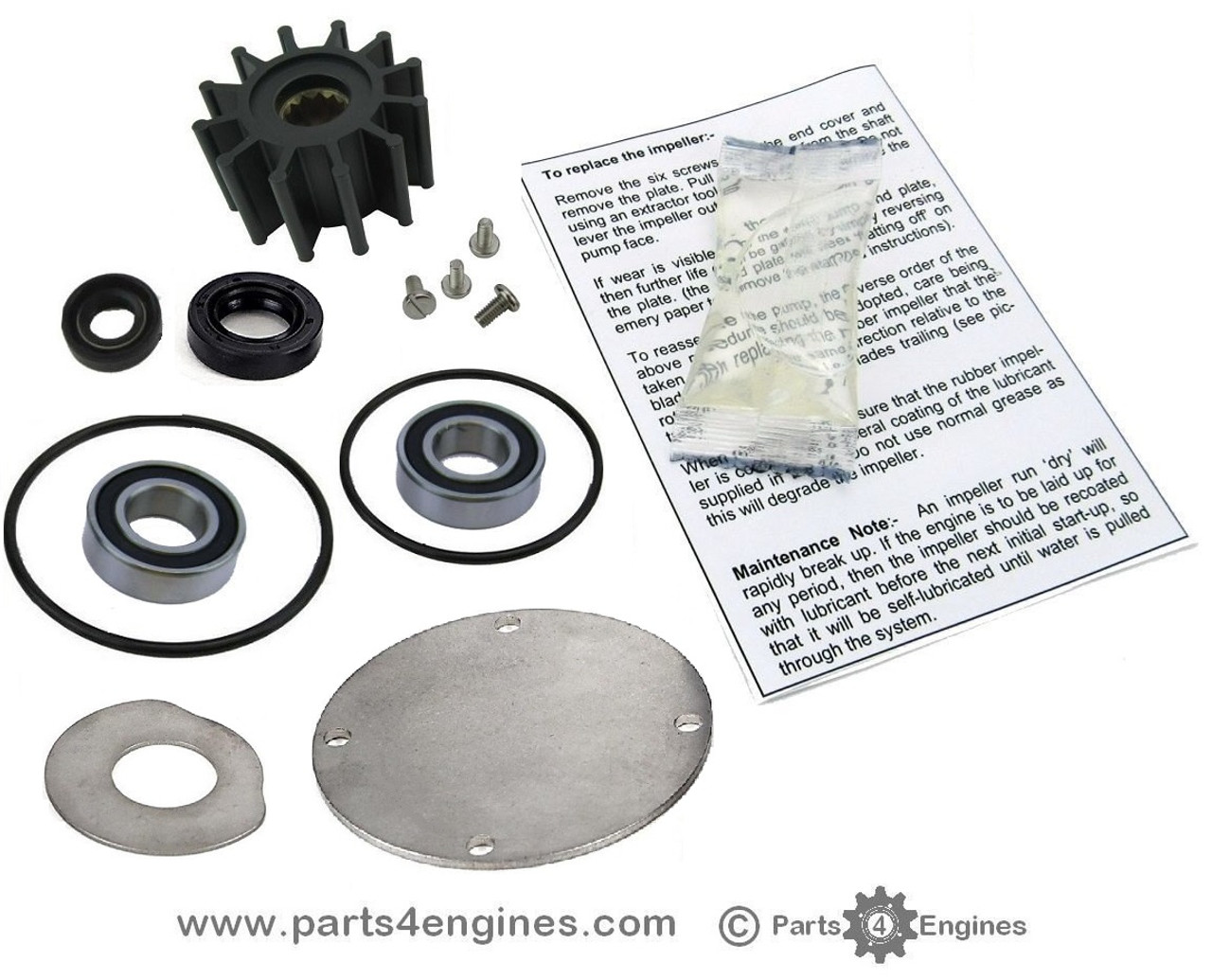 Volvo Penta D2-55 Raw water pump rebuild kit - parts4engines.com