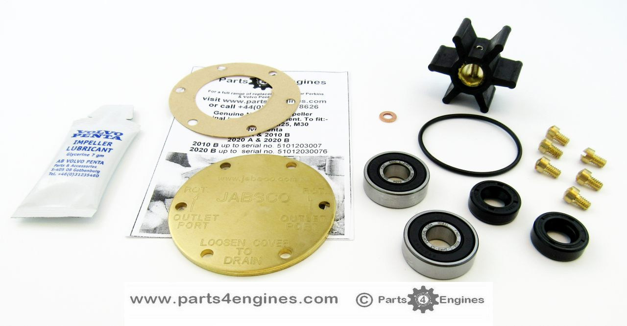 Volvo Penta MD2010 raw water pump rebuild kit (early) - Parts4engines.com