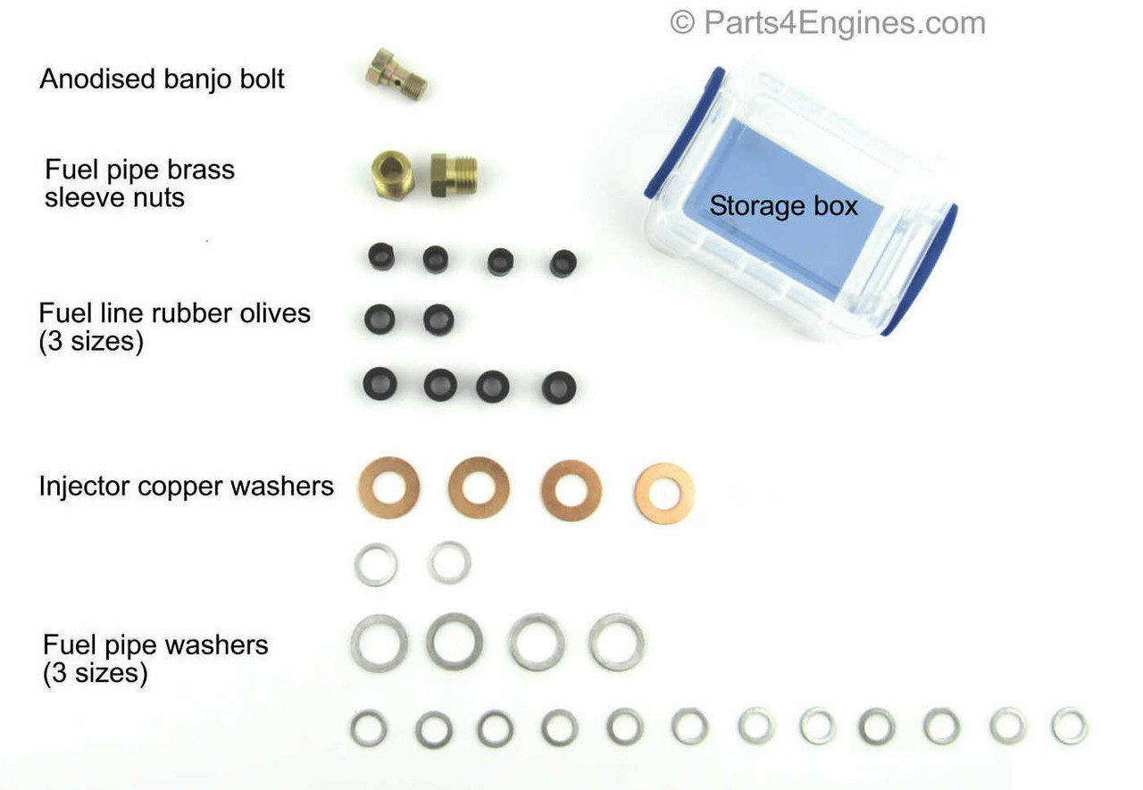 Fuel washers and seal kit for Perkins 4.236 Series from parts4engines.com