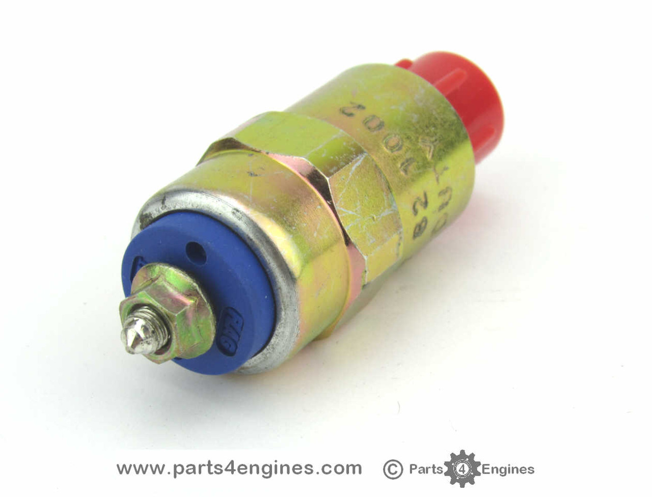 Perkins M90 12V Stop Solenoid from parts4engines.com - single screw connection