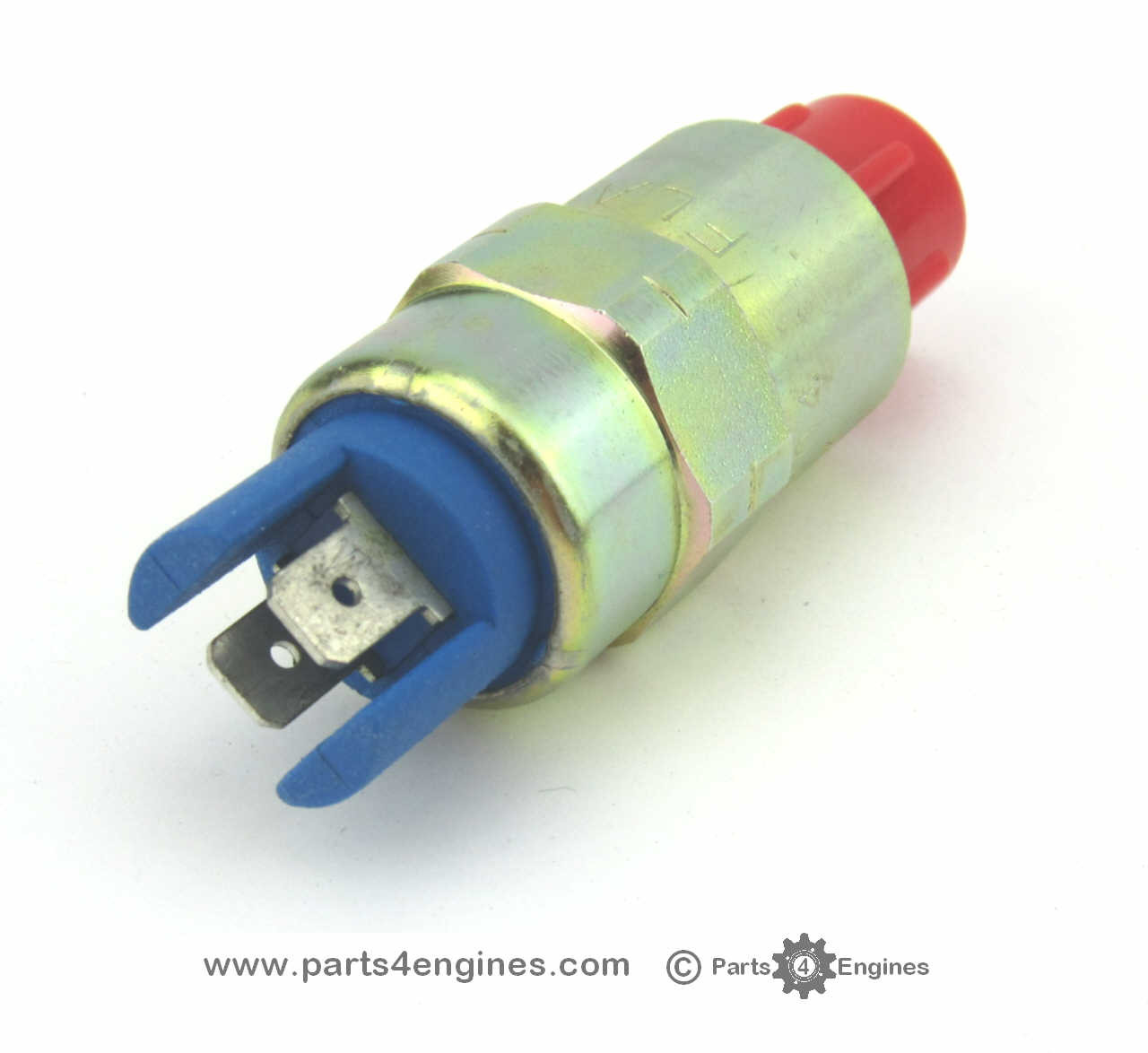 Perkins 4.248 12V Stop Solenoid from parts4engines.com- twin spade connection
