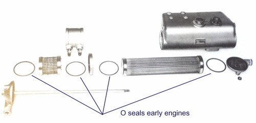 Early combined heat exchanger and oil cooler - Perkins 4.107M Heat Exchanger & Oil Cooler Seal Kits from parts4engines.com