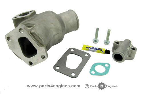 Volvo Penta D2-55 Stainless steel exhaust outlet elbow & connector kit from parts4engines.com