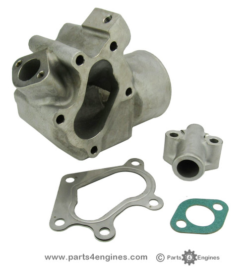 Volvo Penta D2-60 Stainless Steel Exhaust outlet elbow from parts4engines.com