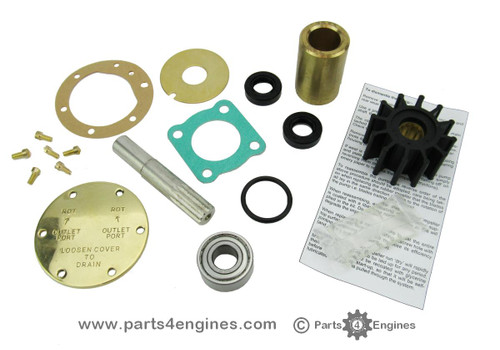 Perkins 4.107 raw water pump Impellers & Service kits with pump alignment tool from parts4engines.com