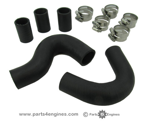 Perkins 4.108 coolant hose set with hose clips - parts4engines.com