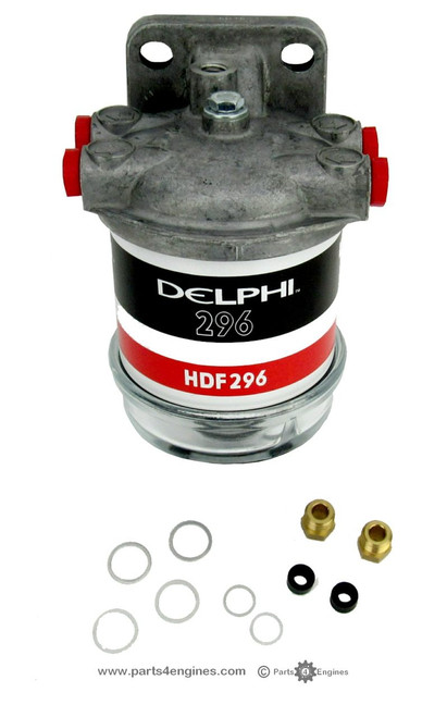 Perkins M90 fuel filter assembly with glass bowl - parts4engines.com