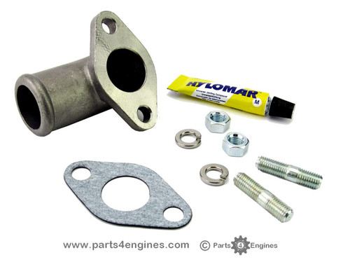 Perkins 4.108 exhaust elbow water connector - Parts4engines.com
