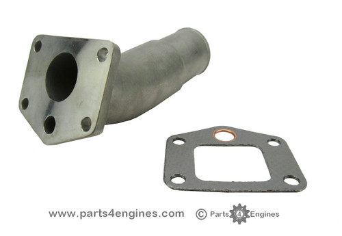 3HM35 Stainless steel exhaust outlet elbow, from parts4engines.com