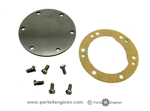 Yanmar 2GM20F Raw water pump End Cover kit, from parts4engines.com