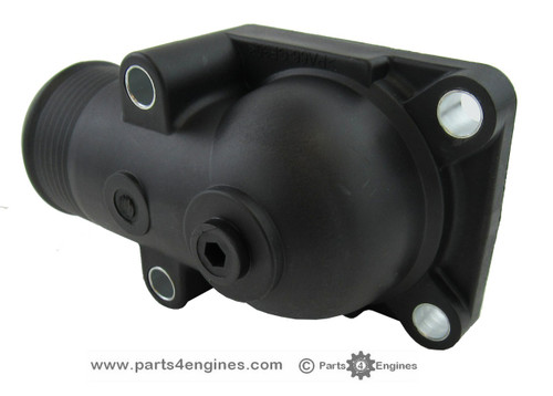 Perkins Phaser 1004 thermostat and housing, from parts4engines.com