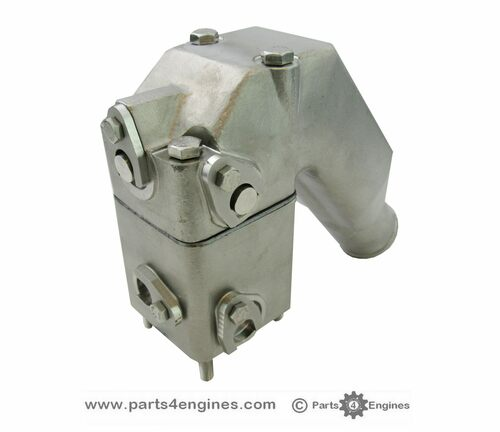 Volvo Penta 2003 Stainless Steel Exhaust pipe outlet elbow with riser, from parts4engines.com