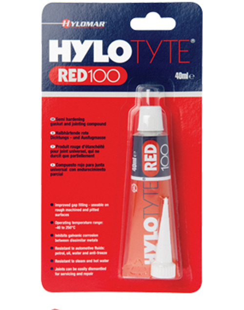 Hylotyte Red 100 is a synthetic, semi-hardening jointing compound that has excellent gap filling properties