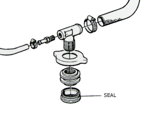 Volvo Penta expansion tank sealing ring 1543751, from parts4engines.com