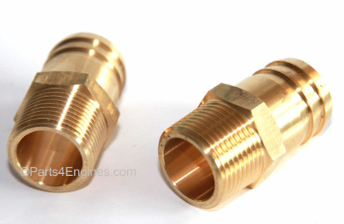 Perkins 4.108 Raw Water Pump Hose Tails pair from parts4engines.com