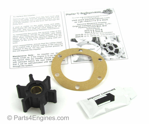 Volvo Penta MD2040 raw water pump impeller and service kit - Parts4engines.com