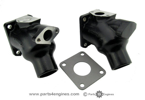 Perkins 4.108M Exhaust outlet elbow from parts4engines.com