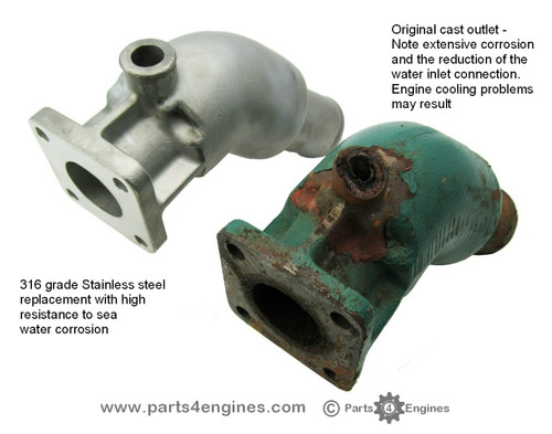 Volvo Penta D2-40 Stainless steel exhaust outlet kit from Parts4engines.com