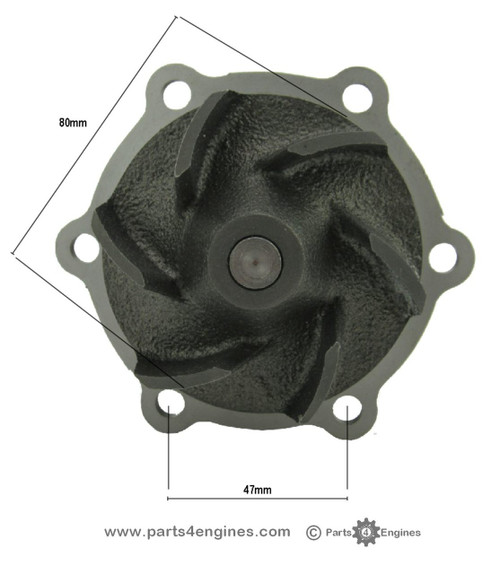 Perkins 200 series Water Pump from parts4engines.com