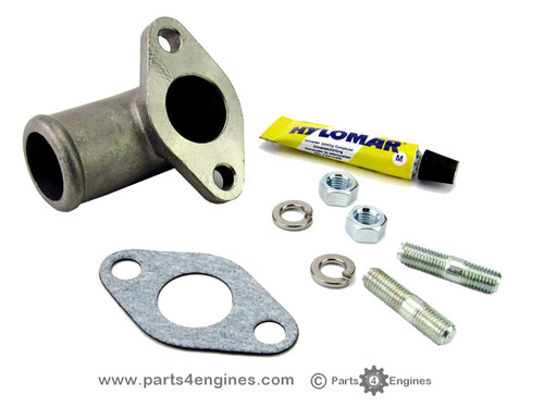 Perkins 4.108 exhaust elbow water connector from Parts4engines.com